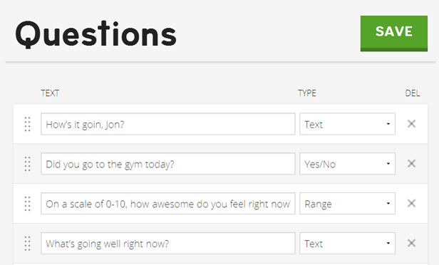 You create your questions